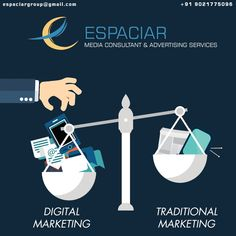 """Digital Marketing is taking over the Traditional Advertising"""".  Since the internet is more reachable to people, communication has become change and easier. And this is the reason, marketers are started approaching audience through different platforms of the Internet. For digital marketing contact #Espaciar #Pune #Digitalmarketing #socialmediamarketing #smo #branding #promotion #internetpromotion Pune, Maharashtra Social Media Marketing, Digital Marketing, S Mo, Pune, Platforms, Promotion, Communication, Advertising, Branding"""