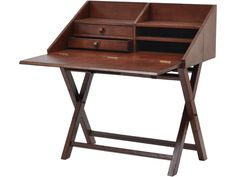 The leather writing desk is part of our range of vintage style furniture, ideal for adding retro charm to your home. If you like the look of this old fashioned hinged writing desk you might also want to take a look at these other items, similar in style to the brown leather folding desk shown...