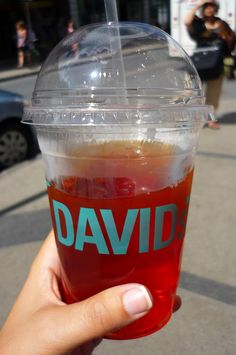 DAVIDs Tea: Iced. Only the best iced tea I've ever had. Paradise Found sweetened with agave nectar. Delicious.