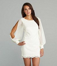 A gorgeous lace dress from Betsy and Adam. I want it in Black, please!