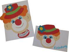 Clownkarte - kreativ.de