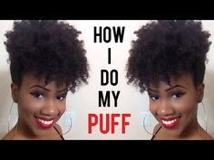 How to do a Forward Afro Puff on Natural Hair | www.youtube.com/kinkyislandgirl #naturalhair