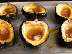 Get Ina Garten's Maple-Roasted Acorn Squash Recipe from Food Network // 163 cal, protein — serve with protein Thanksgiving Vegetable Sides, Thanksgiving Recipes, Thanksgiving Prayer, Thanksgiving Appetizers, Thanksgiving Outfit, Vegetable Side Dishes, Vegetable Recipes, Veggie Side, Food Network Recipes