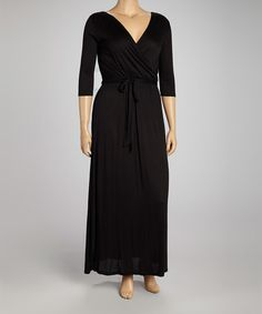 Another great find on #zulily! Black Surplice Dress - Plus by J-Mode USA Los Angeles #zulilyfinds