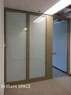 Glass System Wall 怡和大廈 (厚框雙層清玻璃屏風-內置百葉 Double Clear Glass Panel with blind) 10