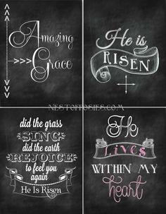 Easter chalkboard ideas