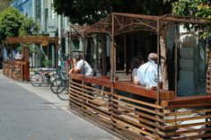 One of our favorite parklets in front of Four Barrel in the Mish. Bonus bike parking!