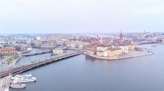 """""""The Central Bridge"""" one of the major traffic routes in central Stockholm Sweden (1024 x 576) (OC)"""