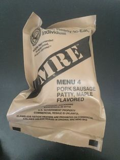 Food And Drink: Pork Sausage Patty Maple Meal Ready To Eat (Mre) Military Issue Field Ration -> BUY IT NOW ONLY: $10 on eBay!