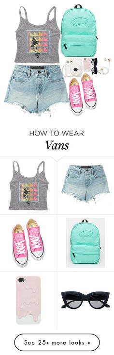 """Tropical Vacation"" by ac-awesome on Polyvore featuring T By Alexander Wang, Billabong, Converse, Vans, tropicalprints and hottropics"