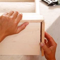 Dog Murphy Bed  DIY...Cut and Attach the Baseboard Molding to build a murphy bed for your dog