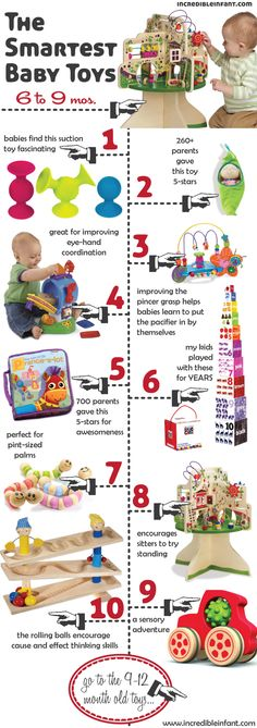 The Smartest Baby Toys for Ages 6-9 Months - http://www.incredibleinfant.com