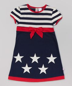 Look what I found on #zulily! Navy & Red Stars & Stripes Dress - Infant, Toddler & Girls by Sophie & Sam #zulilyfinds