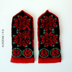 Ravelry: The Latvian Traditional Mitten Pattern - KURZEME / Pattern K-6 pattern by Traditional Design