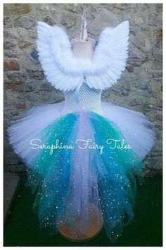 ** I currently have a 2 week turnaround - this is the time it will take to make your order - you still need to allow shipping / postage time too so please check before ordering if you have a certain need by date. ** This beautiful handmade tutu dress is made with hundreds of Unicorn Outfit, Unicorn Costume, Tutu Outfits, Kids Outfits, Kids Costumes Girls, Tutus For Girls, Girls Dresses, Baby Tutu Tutorial, Elf Clothes