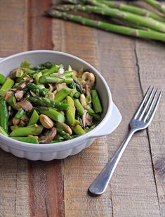 For the Love of Food: Leek and Asparagus Stir-Fry with Mushrooms