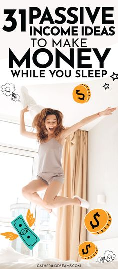 READY TO MAKE MONEY WHILE YOU SLEEP?I am going to share the best 31 passive income ideas for beginners. Plus I share all the passive income streams I used to become financially free and quit my job! Money saving Tips, Money Tips, Money Hacks, Passive Income Ideas, Streams of Income, Passive Income Streams, Make Money Online, Side Hustle #passiveincome #financialfreedom #makemoney Money Hacks, Money Tips, Money Saving Tips, Money Plan, Fast Money Online, Legit Online Jobs, Passive Income Streams, Creating Passive Income, Earn More Money