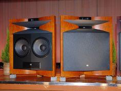 The JBL Everest speakers.