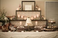 Rustic dessert table idea www.MadamPaloozaEmporium.com www.facebook.com/MadamPalooza