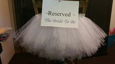 Tulle Chair TuTu for Bride to Be $35