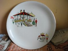 """Meakin """" Carousel"""" plate by brizzelgirl, via Flickr"""