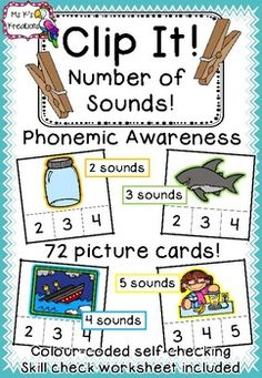 Phonemic Awareness is hearing the smallest speech sounds in each word. It provides a strong foundation for early reading success. Students with a strong phonemic awareness are much more likely to be successful readers. This game allows students to work on listening to the number of sounds in a word, in a fun way and use their fine motor skills at the same time.
