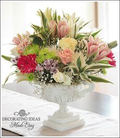 Create an inexpensive flower arrangement. Step by step tutorial!