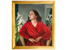 Portrait of Annette Stiver, Christopher Perkins gifted by Hawke's Bay Museums Trust Foundation, collection of Hawke's Bay Museums Trust, Ruawharo Tā-ū-rangi, Napier New Zealand, New Zealand Art, Portrait Paintings, Museum Collection, Mtg, Exhibit, Museums, Trust, Foundation