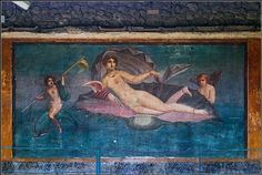 Pompeii. House of Venus in the Shell. Fresco, 1st c. AD.