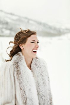 Loving this winter bride's style