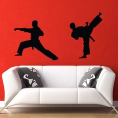 Karate Wall Decal - I wonder if I can make this??