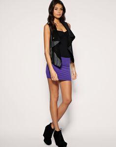 Image 1 ofASOS Micro Mini Skirt in Jersey