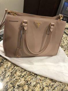 b1be32776d7b ... cheapest prada saffiano lux double zip tote large cammeo tan womens  handbag new 8055009792137 ebay 64f0b