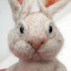 Learn how to make your own needle-felted bunny for Easter with this detailed step-by-step tutorial with photos. Grumpy Bunny alert!