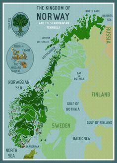 Map of Norway - www.abigaildaker.com
