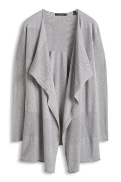 Esprit - .long, fine-knit cardigan in a cotton blend at our Online Shop