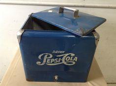 Lot 2449: Vintage Blue Pepsi Cola Cooler JULY 30, 2016
