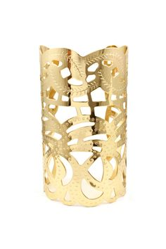 Etched Kylie Cuff in Gold