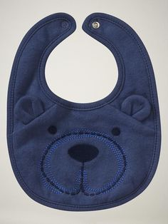 Embroidered Bear Bib