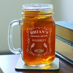 Whiskey tastes & looks sweeter in this #Personalized Whiskey Jar!