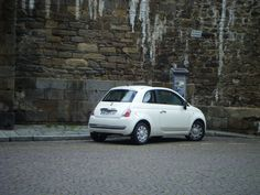 A Fiat 500 in Saint-Malo, France