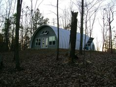 Metal Arch Green Cabin