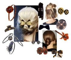 Amazing Flower hair clips & headbands by shambalaparadise-21 on Polyvore featuring Alexandre de Paris and Nicholas K