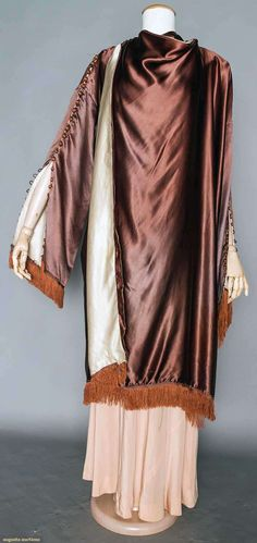 historical fashion (ephemeral-elegance:   Silk Charmeuse Evening Wrap,...)