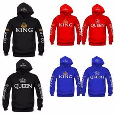 98040a5e241 Discount Up to OMSJ 2018 Autumn King Queen Printed Hoodies Women Men  Sweatshirt Lovers couples hoodie Hooded sweatshirt Casual Pullover