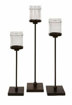 Set Of 3 Flamenco Floor Candle Holders By Imax 238 15 Material Iron Gl