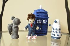 Doctor Who Collection - Tenth Doctor, Weeping Angel, Dalek, & Tardis by stephany719