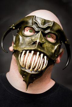 Leather Gargoyle Mask Combo by *OsborneArts on deviantART
