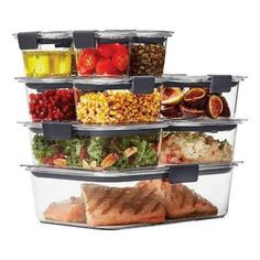 Bed Bath & Beyond's Kitchen Organization Sale | FN Dish - Behind-the-Scenes, Food Trends, and Best Recipes : Food Network | Food Network Meal Prep Plans, Food Storage Containers, Plastic Containers, Protein Foods, Meals For The Week, Fruits And Veggies, Vegetables, Plant Based Recipes, Keto Recipes
