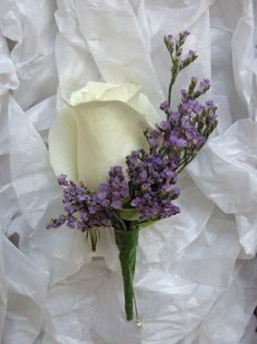 Many bride-to-bes might know the wedding flower they desire in their own bouquet, but are a little mystified about the remainder of the wedding flowers required to fill out the ceremony and reception. Purple Wedding Flowers, Bridal Flowers, Wedding Colors, Wedding Bouquets, Purple Mums, Small Purple Flowers, Purple Bouquets, Lavender Bouquet, Wedding Dress